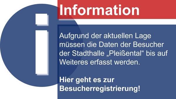 Besucherregistrierung Stadthalle
